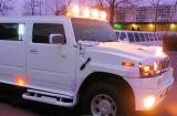 Лимузин Хаммер белый с блестками - фото 12
