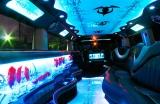 Лимузин Хаммер белый с блестками - фото 16