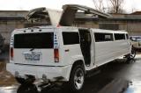 Лимузин Хаммер белый с блестками - фото 3