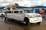 Лимузин Хаммер белый с блестками - фото 5