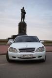 Mercedes S220 белый - фото 1